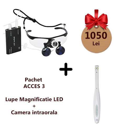 Pachet ACCES3 Camera intraorala si Lupe cu LED