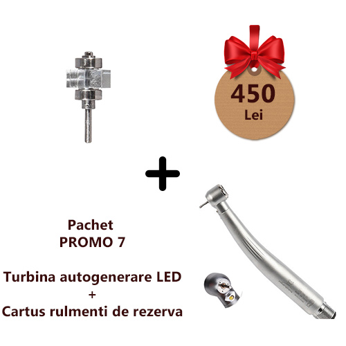 Pachet PROMO7 Turbina LED autogenerare si cartus