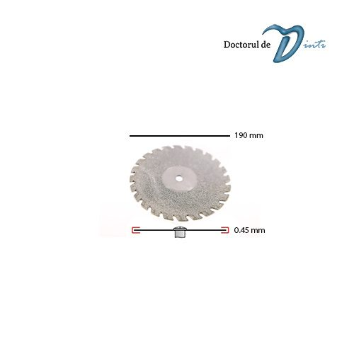 Disc Diamantat Tehnica Dentara 190 mm grosime 045 Dintat