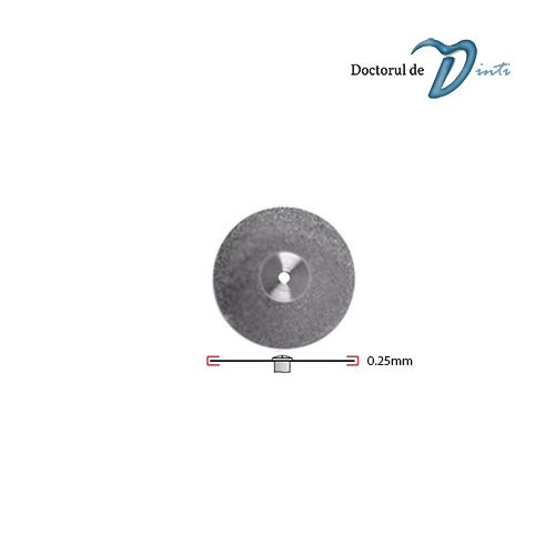 Disc Diamantat Tehnica Dentara 220 mm grosime 025 Granulatie Fina