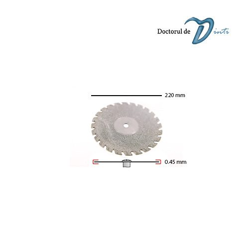 Disc Diamantat Tehnica Dentara 220 mm grosime 045 Dintat