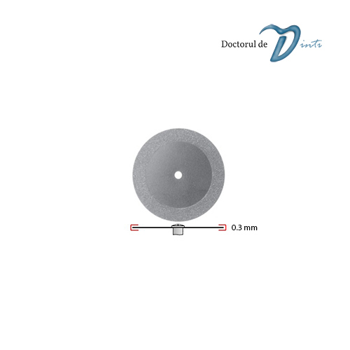 Disc Diamantat Tehnica Dentara 220 mm grosime 03 Granulatie Fina