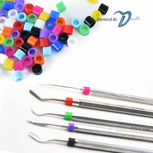 Inele silicon color codare instrumente dentare BS08
